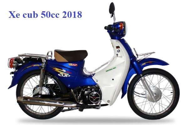 xe cub 50cc 2018 màu xanh dương