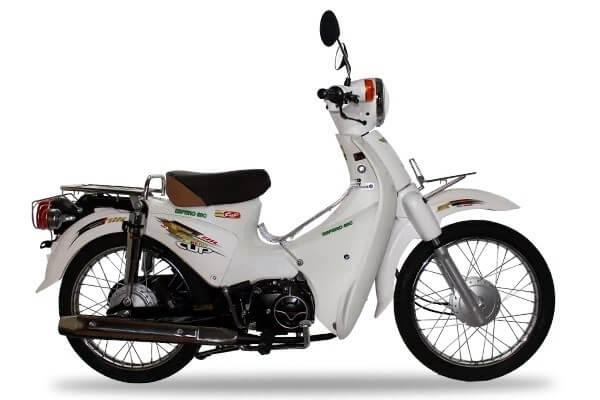 Mẫu xe cub 50cc 2018 màu trắng