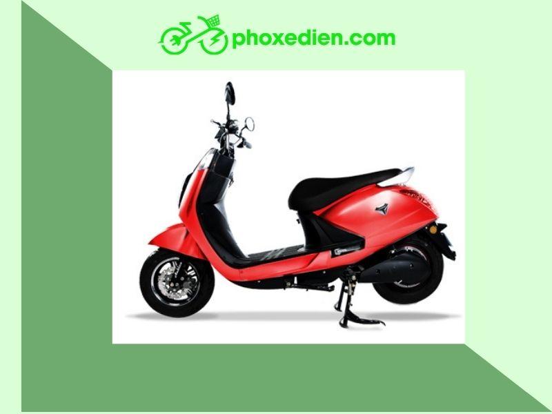 Xe máy điện Anbico màu đỏ thời thượng, hiện đại